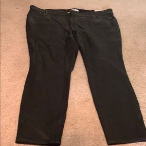 Brand new Black Loft Plus Coated Jeans With Tags